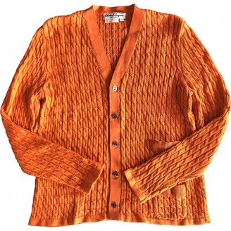 Salvatore Ferragamo Orange Cotton Knitwear