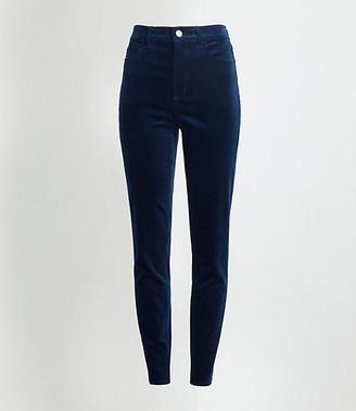 LOFT High Rise Skinny Velvet Pants