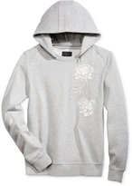 GUESS Men's Roy Embroidered Sweatshirt with Zip-Off Hood