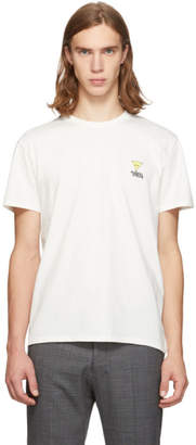 MAISON KITSUNÉ White Smiley Fox T-Shirt