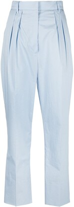 Nanushka Cropped Pleated Trousers