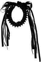 Donna Karan Crystal & Leather Collar Necklace
