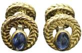Van Cleef & Arpels 18K Yellow Gold Cabochon Sapphire Cufflinks