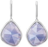 Monica Vinader Siren sterling silver blue lace agate nugget earrings
