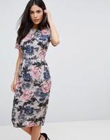 Paper Dolls Rose Print Kimono Sleeve Dress