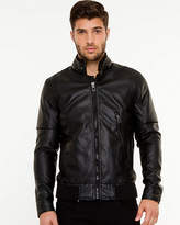 Le Château Leather-Like Bomber Jacket