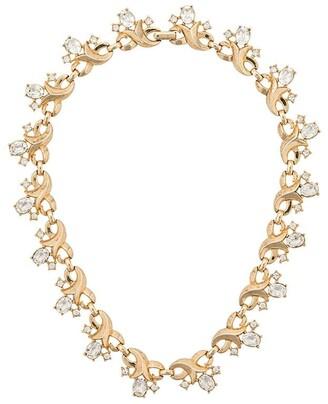 Susan Caplan Vintage 1960s gold-plated Trifari necklace