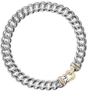 David Yurman Cable Buckle Chain Necklace With 14K Gold