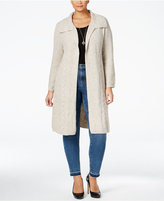Style&Co. Style & Co. Plus Size Cable-Knit Duster Cardigan, Only at Macy's