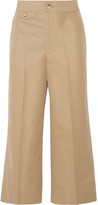 Helmut Lang Cropped Cotton Wide-leg Pants - Beige