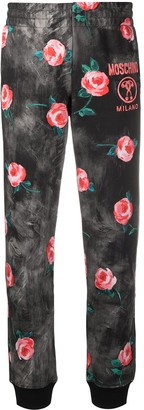 Moschino Rose Print Track Pants
