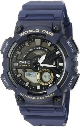 Casio Men's Heavy Duty Quartz Resin Watch Color: Blue (Model: AEQ110W-2AV)