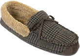Dockers Premiere Mens Plaid Memory Foam Moccasin Slippers