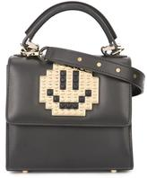 Les Petits Joueurs mini 'Alex Metal Smile' tote - women - Calf Leather - One Size