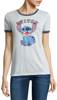 Freeze Short Sleeve Crew Neck Lilo & Stitch T-Shirt-Juniors