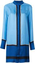 Diane von Furstenberg mandarin neck shirt dress - women - Silk - M