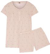 Bodas Polka-Dot Cotton-Jersey Pajama Set