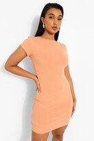 Thumbnail for your product : boohoo Crew Neck Rib Fitted Bodycon