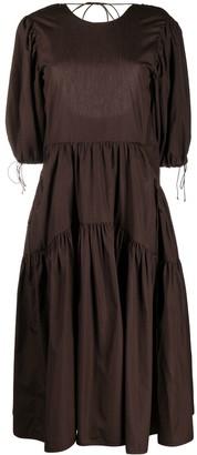 Cecilie Bahnsen Open Back Flared Dress