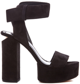 Alexander Wang Women's Keke Platform Heeled Sandals Black