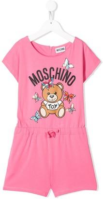 MOSCHINO BAMBINO Toy Bear playsuit