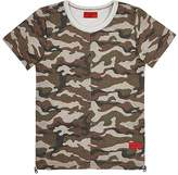Haus of JR HAUS OF JR MIGUEL LOGO-PRINT CAMOUFLAGE FRENCH TERRY T-SHIRT