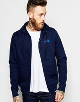 The North Face Hoodie With Zip Through Tnf Logo - Blue