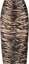 Tamara Mellon Animal-print calf hair pencil skirt