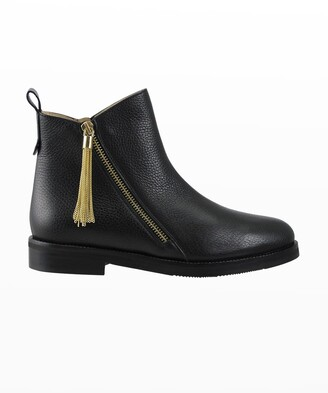 Ron White Liselle Leather Tassel Ankle Booties