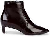 Aquatalia Marilisa Patent-Leather Kitten Heel Booties