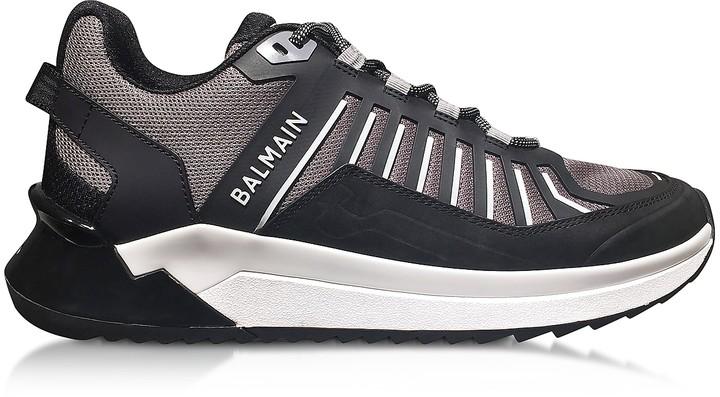 Balmain Black & Gray Low Top Men's B-Trail Sneakers