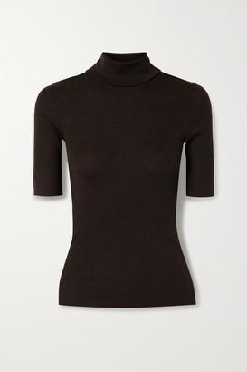 Theory Leenda R Ribbed Merino Wool-blend Turtleneck Sweater