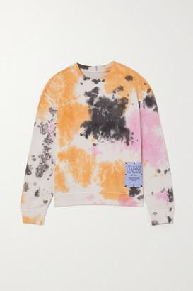 McQ Athena Appliqued Tie-dyed Cotton-jersey Sweatshirt