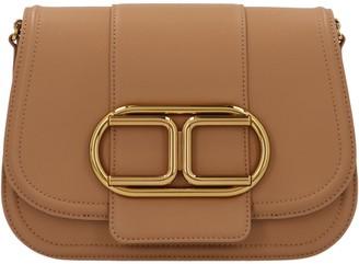 Elisabetta Franchi Logo Chain Strap Crossbody Bag