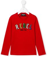 DSQUARED2 embellished rebel print sweatshirt