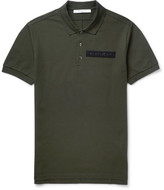Givenchy Slim-fit Velcro®-appliquéd Cotton-piqué Polo Shirt