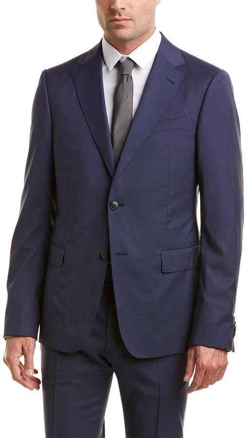 Ermenegildo Zegna Wool Suit With Flat Pant