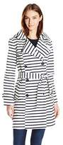 Tommy Hilfiger Women's Striped Trench Coat