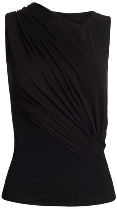Rick Owens Lilies Open Back Asymmetric Gathered Top