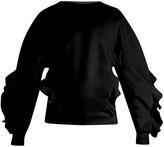 Stella McCartney Ruffle-trimmed cotton-blend sweatshirt