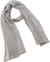 Private Label White Oblong Scarf