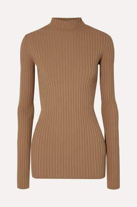 MM6 MAISON MARGIELA Ribbed-knit Turtleneck Sweater - Tan