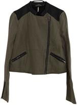 Free People Khaki Synthetic Jackets