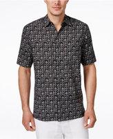 Tasso Elba Men's Gaudi Tile-Print Short-Sleeve Shirt, Only at Macy's