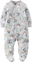 """Carter's Baby Boys' """"Snowman Fun"""" Footed Coverall"""