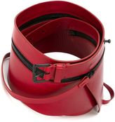 Ann Demeulemeester zip detail buckle belt