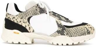 Alyx snake print effect sneakers