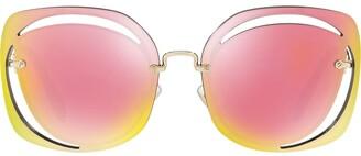 Miu Miu Cut Out Sunglasses