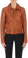 Helmut Lang WOMEN'S LEATHER JACKET-DARK BROWN SIZE P