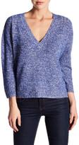 Brochu Walker Danika V-Neck Linen Cashmere Blend Sweater